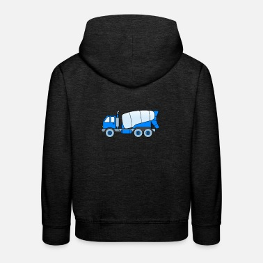 Concrete Concrete mixer children - concrete mixer construction site - Kids' Premium Hoodie