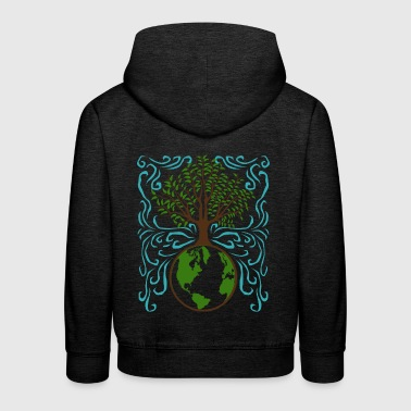 Safe the planet gift earth tree - Kids' Premium Hoodie
