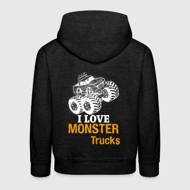 I love monster trucks - Kids' Premium Hoodie