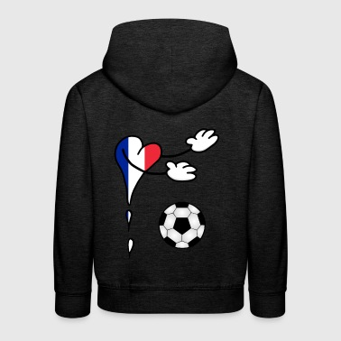 Fanshirt flag football France - Kids' Premium Hoodie