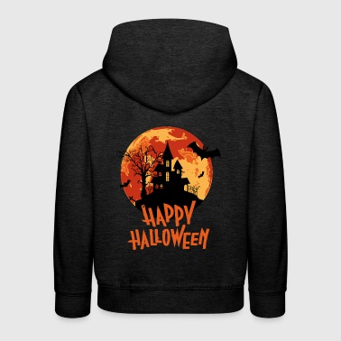 Bloodmoon Haunted House Halloween Design - Kinder Premium Hoodie