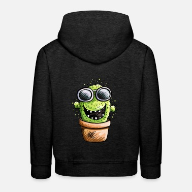 Cactus With Sunglasses - Summer - Cartoon - Gift  - Kids' Premium Hoodie