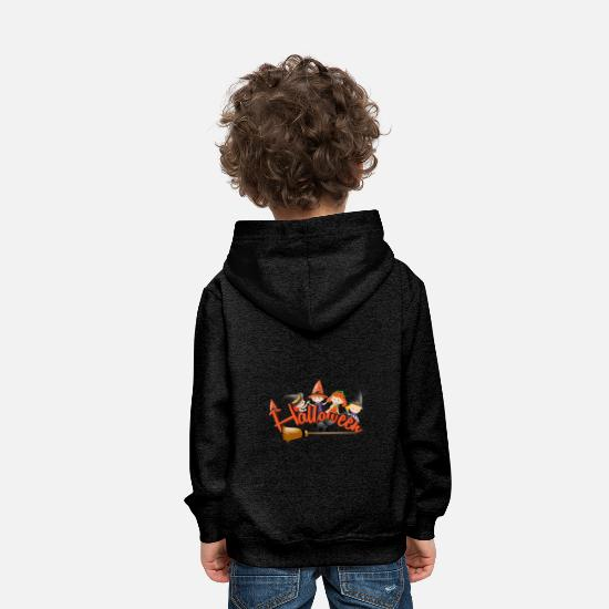 Dig Hoodies & Sweatshirts - Happy Halloween Witch - Kids' Premium Hoodie charcoal grey