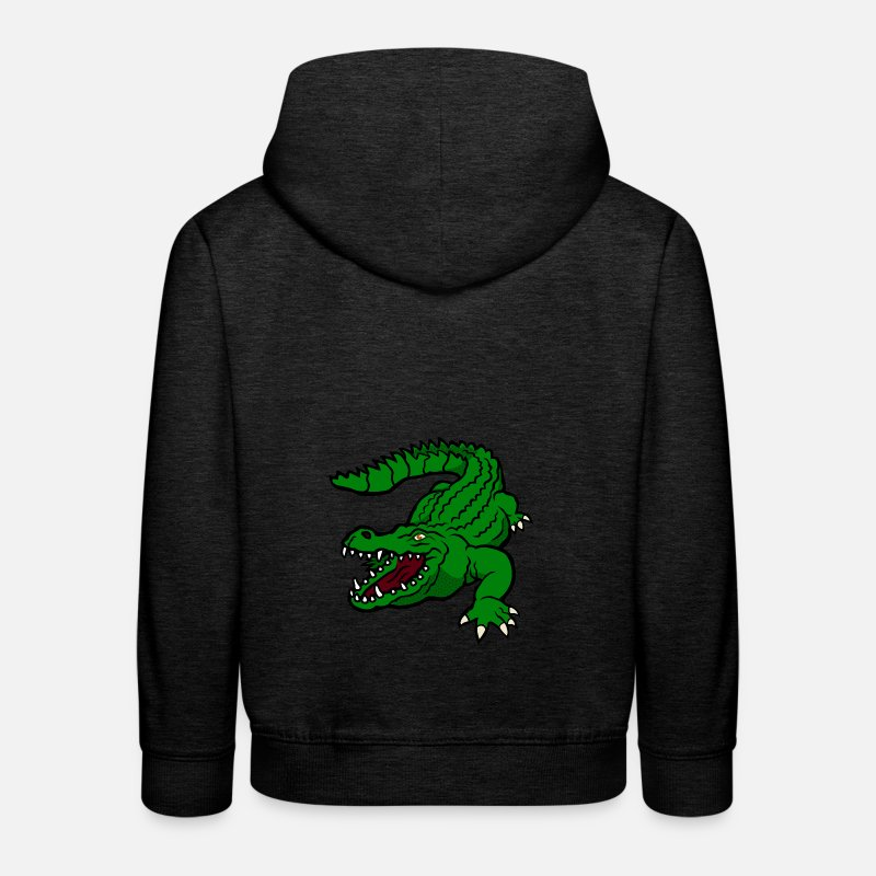 Crocodile Sweat-shirts - crocodile - Sweat à capuche premium Enfant charbon