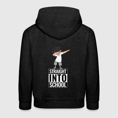 Back to school Straight Into School DAB Dabbing Boy - Kids' Premium Hoodie