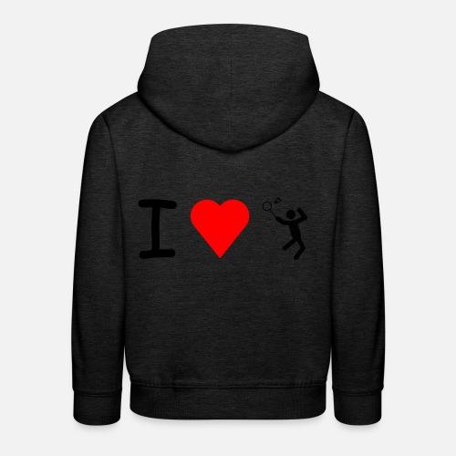 J'adore Badminton Sweat à capuche premium Enfant   Spreadshirt