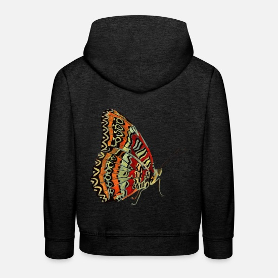 Love Hoodies & Sweatshirts - filigree butterfly - Kids' Premium Hoodie charcoal grey