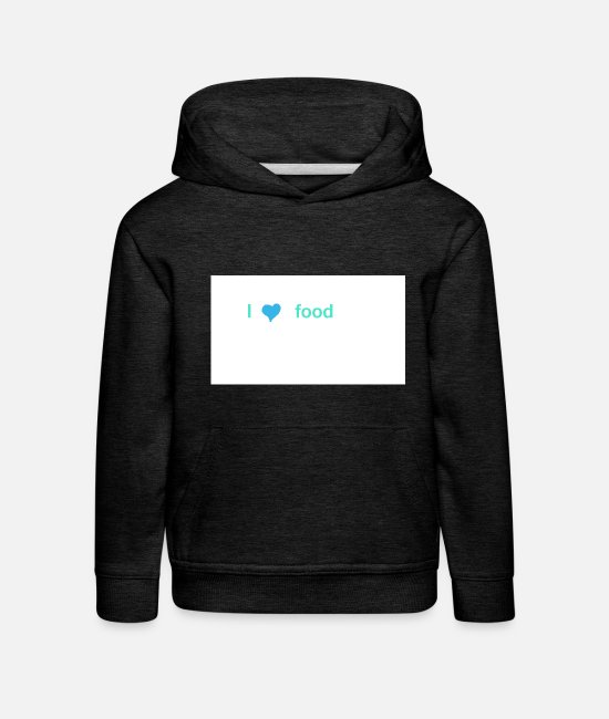 I Love Pullover & Hoodies - I heart food - Kinder Premium Hoodie Anthrazit