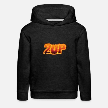 X Box 2Up 2up 2UP Second Player Gamer in Flammen - Kinder Premium Hoodie