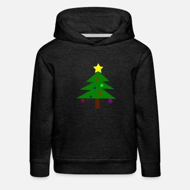 Christmas tree with balls - Kids' Premium Hoodie
