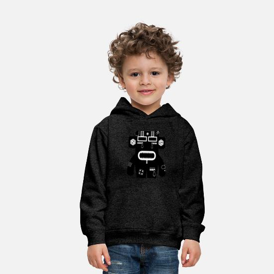 Negro Sudaderas - Rene - Monster Collection Tech - Sudadera con capucha premium niño antracita