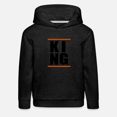 Hiphop Ragazzo con re regalo HipHop KING KING - Felpa con cappuccio premium  per bambini 3b8b61ec15e0