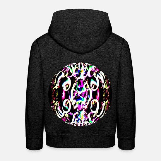 Neon Pullover & Hoodies - Neon color ball, Neon Farbenkugel - Kinder Premium Hoodie Anthrazit