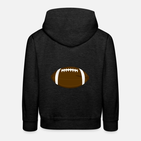 American Football Pullover & Hoodies - Spielball American Football - Kinder Premium Hoodie Anthrazit
