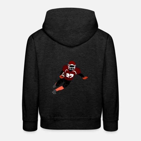 American Football Pullover & Hoodies - American Football Spieler - Kinder Premium Hoodie Anthrazit
