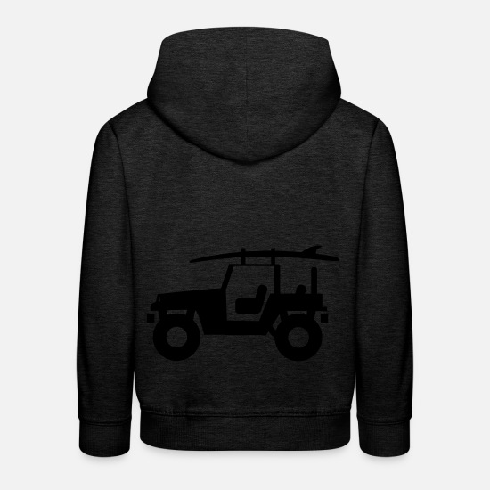 V8 Hoodies & Sweatshirts - Jeep - SUV - Kids' Premium Hoodie charcoal grey