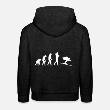 Aprèsski Evolution of the skier - Kids' Premium Hoodie
