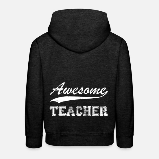 Birthday Hoodies & Sweatshirts - Teacher T-Shirt Gift Idea Birthday Funny - Kids' Premium Hoodie charcoal grey