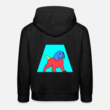 Male Puppy Dog Puppy Playful dog puppy Pino - Kids' Premium Hoodie