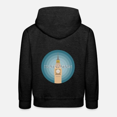 London I love London - Kids' Premium Hoodie