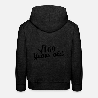 Square 13th birthday: square root 169 years old -black - Kids' Premium Hoodie