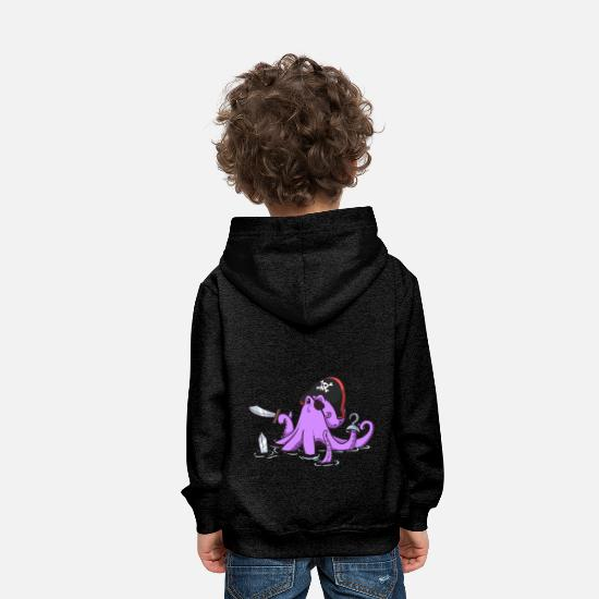 Bateau Sweat-shirts - Octopus Pirate - Sweat à capuche premium Enfant charbon