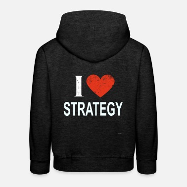 Strategie Ich liebe Strategie - Kinder Premium Hoodie