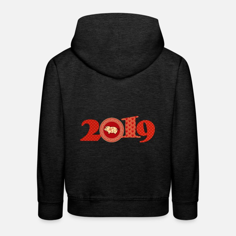 New Hoodies & Sweatshirts - 2019 Chinese New Year - Kids' Premium Hoodie charcoal grey