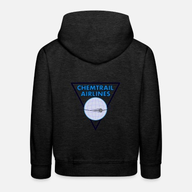 Airline Chemtrail Airlines Pilot - Kinder Premium Hoodie
