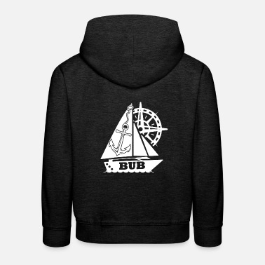 Anchor Sailing Ship Marine Steering Wheel Bub - Kids' Premium Hoodie