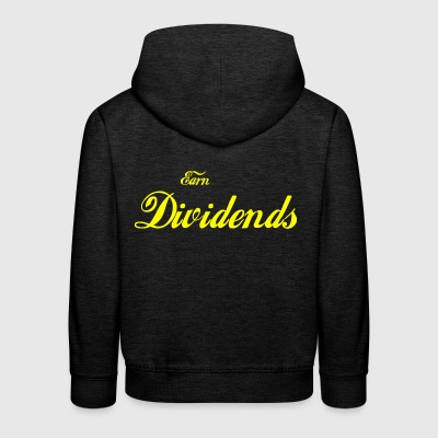 Earn Dividends (yellow) - Kids' Premium Hoodie