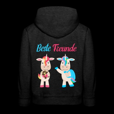 Best friends unicorns - Kids' Premium Hoodie