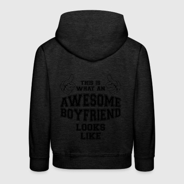 This is what an awesome Boyfriend looks like Gifts - Kids' Premium Hoodie