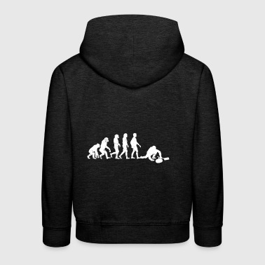 Curling Evolution gift winter sports ice - Kids' Premium Hoodie
