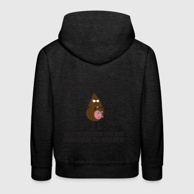 Get up to milk the almonds gift - Kids' Premium Hoodie