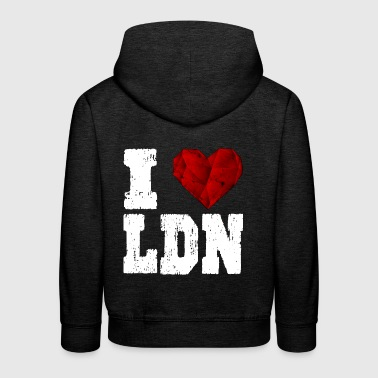 i love London heart gift - Kids' Premium Hoodie