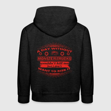 DAY WITHOUT TAG OHNE HOBBY KILL Big Foot monster t - Kinder Premium Hoodie