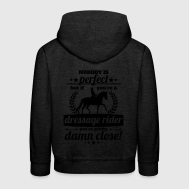 dressage rider perfect - gift - Kids' Premium Hoodie
