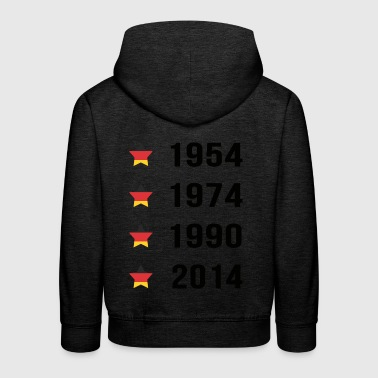 Football Germany black red gold world champion - Kids' Premium Hoodie