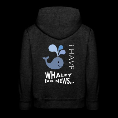 Pregnancy Announcement. Little baby girl, boy. - Kids' Premium Hoodie