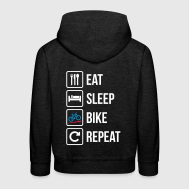 Eat Sleep Bike Repeat - Kids' Premium Hoodie