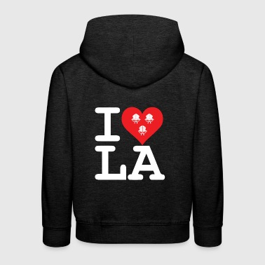 I love LA! white with ribbons - Kids' Premium Hoodie