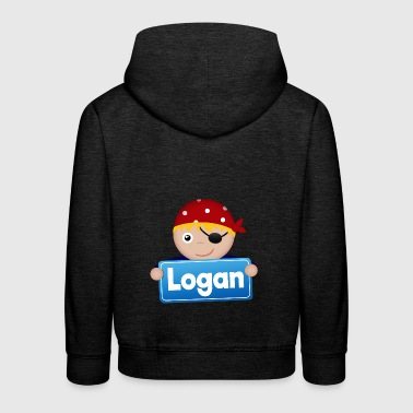 Little Pirate Logan - Kids' Premium Hoodie