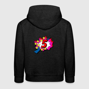 POP Star is 5 years old - Kids' Premium Hoodie