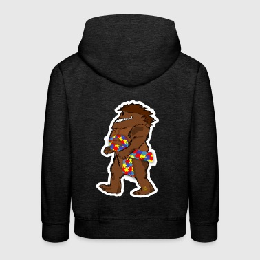 Bigfoot Sasquatch autism awareness awareness loop - Kids' Premium Hoodie
