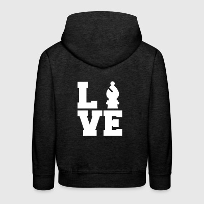 Chess / Chessboard: Love Chess - Kids' Premium Hoodie