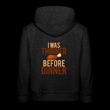Thanksgiving / Erntedankfest: I Was Thinner Before - Kinder Premium Hoodie