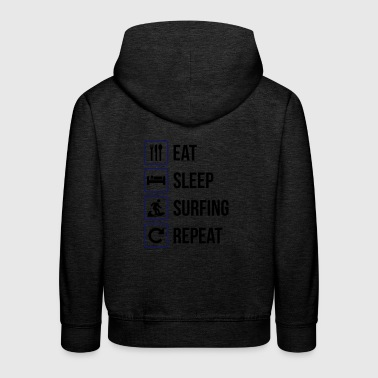 Eat Sleep Surf Repeat - Felpa con cappuccio Premium per bambini