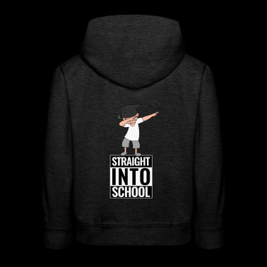 Schulanfang Straight Into School DAB Dabbing Boy - Kinder Premium Hoodie