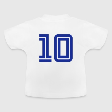 College Numbers, Nummern, Sports Numbers, 10 - Camiseta bebé